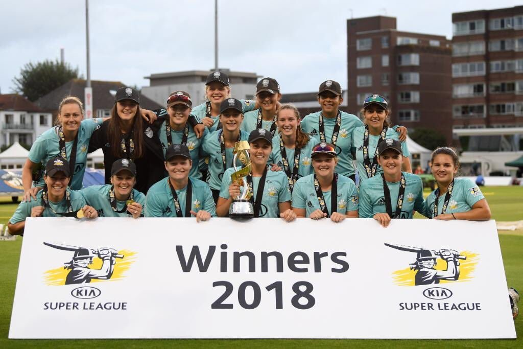 Surrey Stars win the third edition of the Super League. ©Getty Images