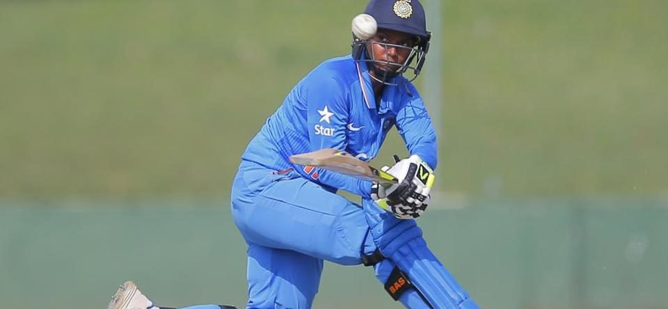Deepti Sharma in action. ©ICC
