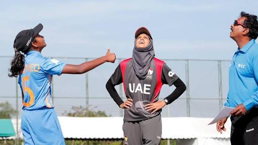 The UAE captain at the toss before a match. ©Humaira Tasneem
