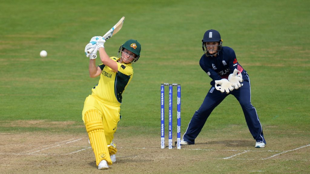 Beth Mooney played a crucial hand at the back end of the innings. © ICC