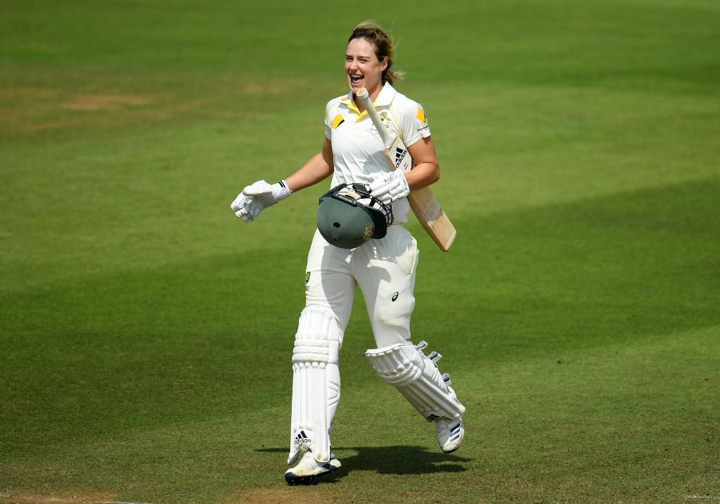 Ellyse Perry celebrates another milestone. ©Getty Images
