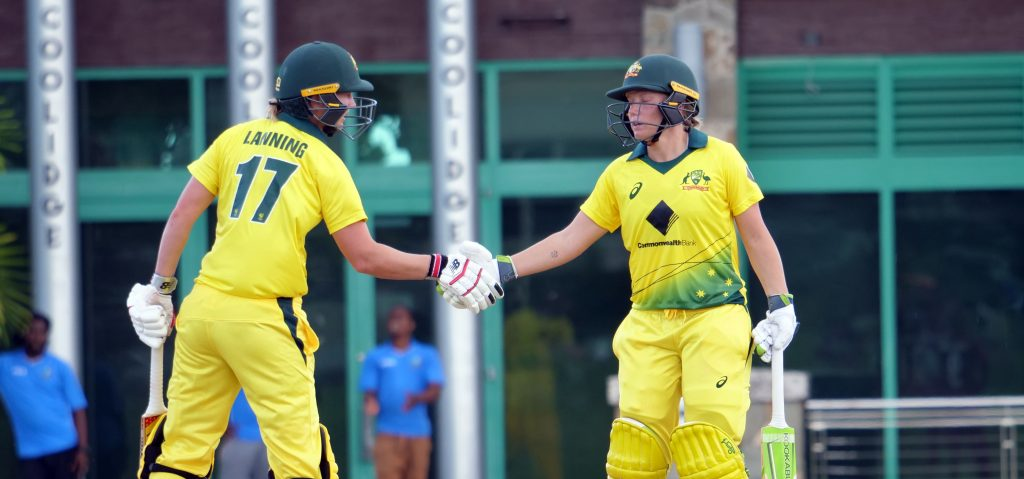 Meg Lanning and Alyssa Healy's centuries laid the foundation for Australia's first win. © Cricket Australia