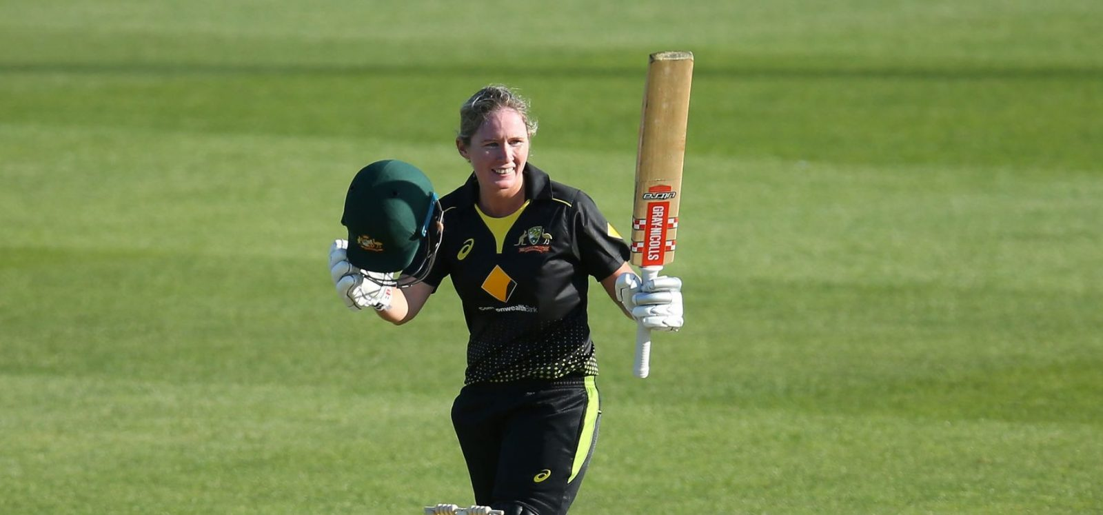 Beth Mooney notched up her second T20I century. © Getty Images