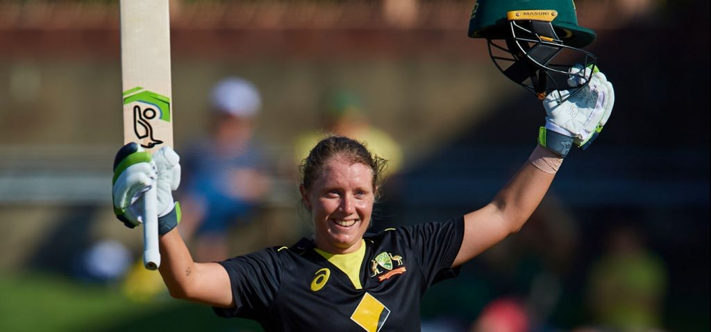 Alyssa Healy walloped a world record 148 off 61 balls. © Getty Images