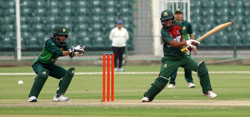 Will Rumana Ahmed (R) be able to lead Bangladesh from the front to a win on the Pakistan tour? © PCB