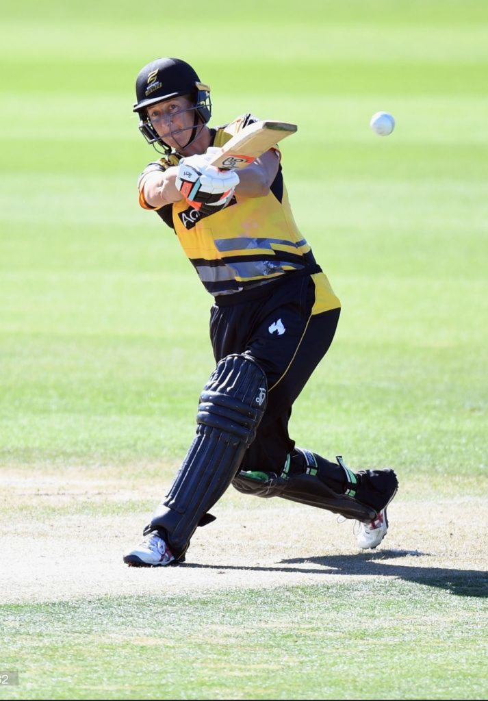 Sophie Devine in action for Wellington. © Getty Images