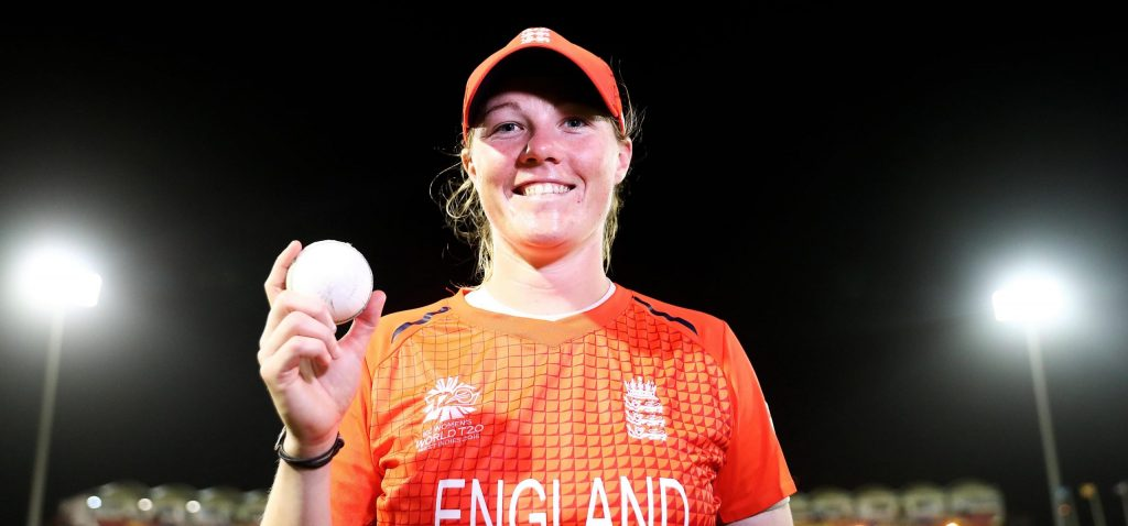 Anya Shrubsole cleaned up South Africa's tail with a hat-trick. © ICC