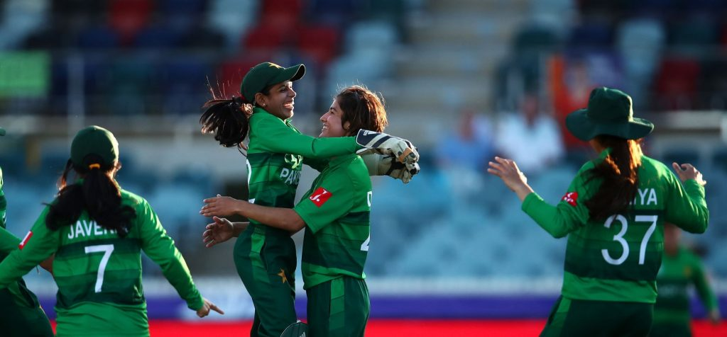 Diana Baig has twice taken the early wicket for Pakistan this tournament. © Getty Images