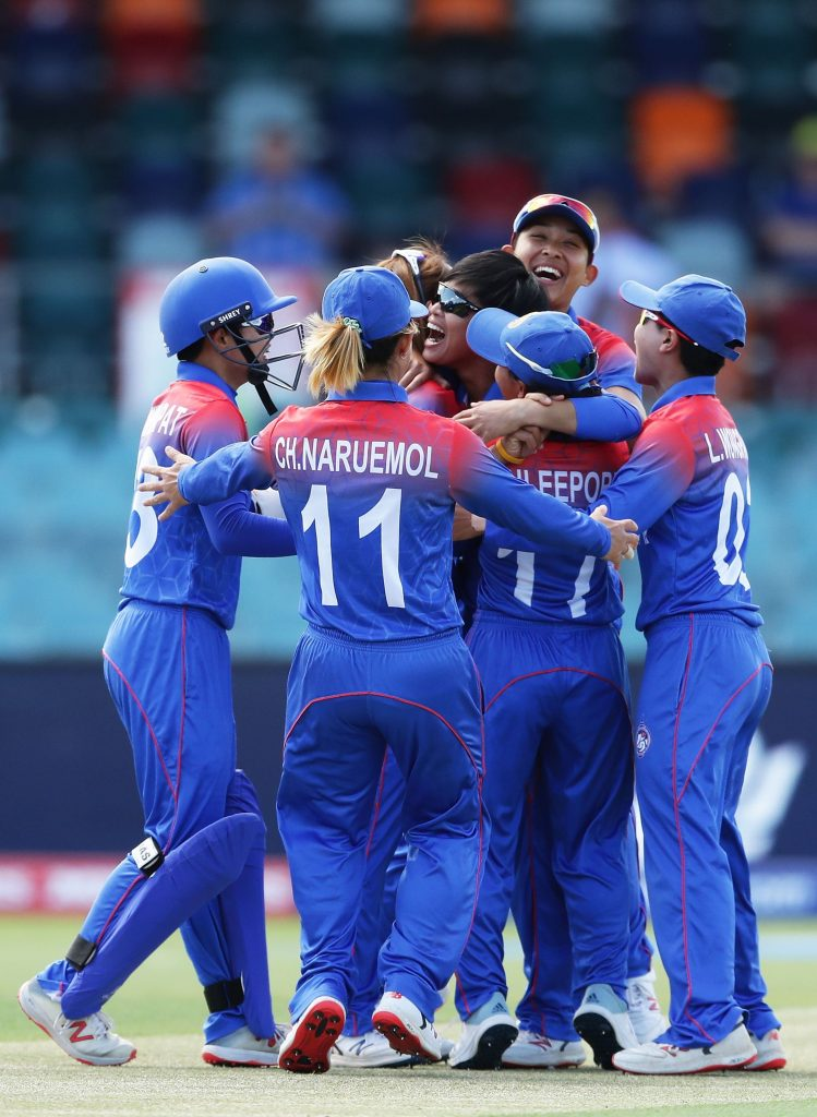 Thailand had England on the ropes with two early wickets. © ICC