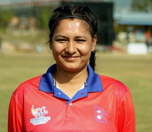 Anjali Chand took six wicket. © Cricket Nepal