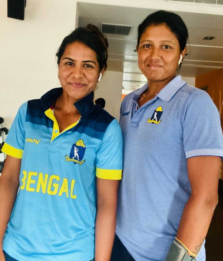 Gouher Sultana (L) & Rumeli Dhar were central to Bengal'd success in the 2019-20 season. © Gouher Sultana