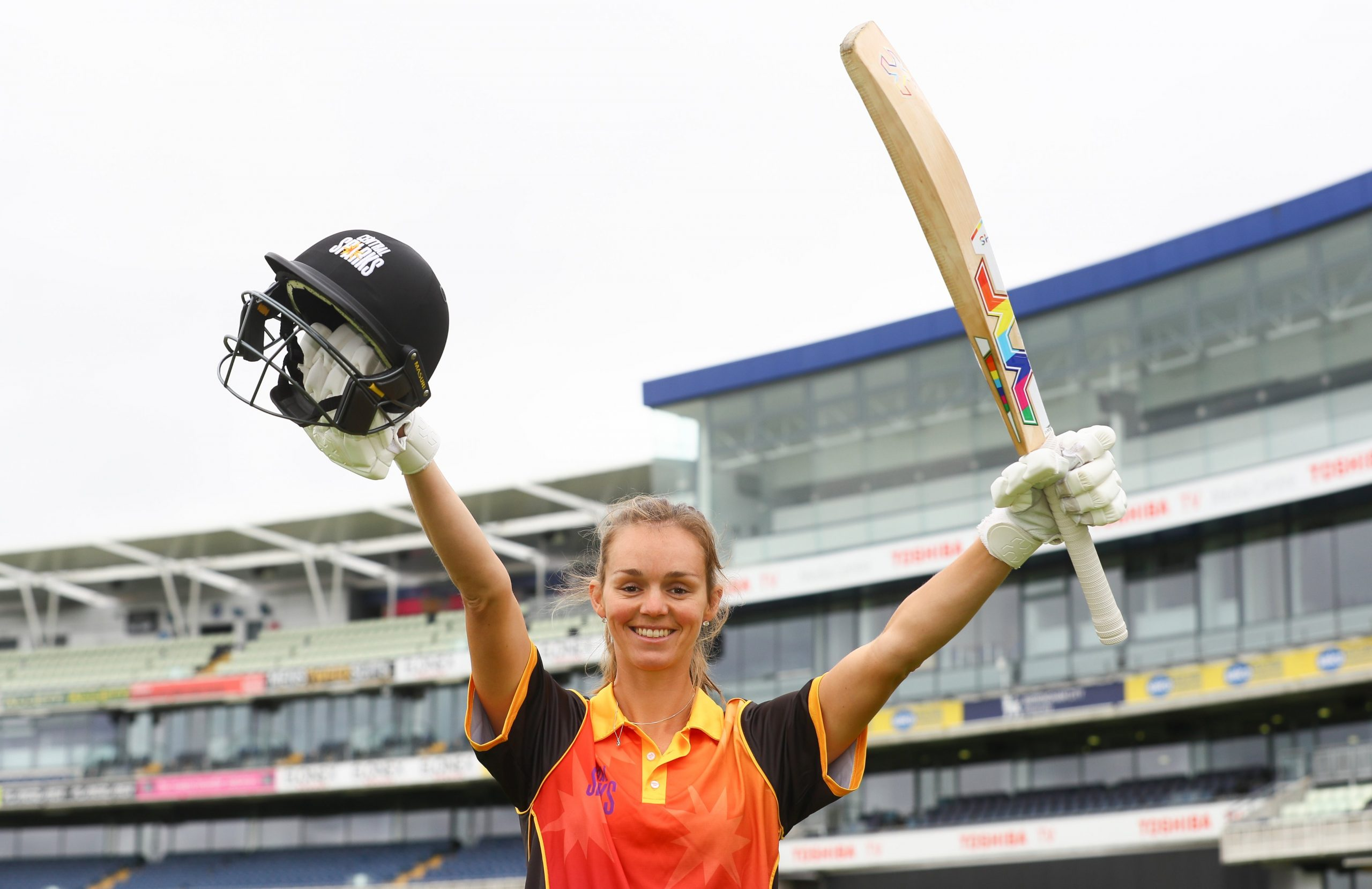 Eve Jones played a brilliant knock against Thunder to take her team home. © Central Sparks Twitter